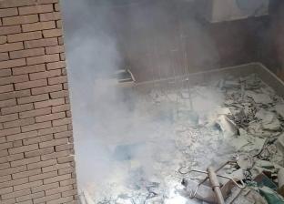 بالصور| إخماد حريق بالمستشفى الجامعي في شبين الكوم