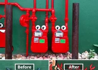 بالصور| أعمال فنية بالشارع.. المجاري أصبحت مقلاة وعدادات الغاز كابوريا