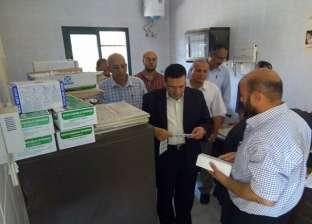 رئيس مركز ملوي بالمنيا يتفقد الخدمات بقرية دير البرشا