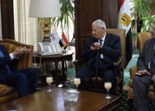مكرم محمد أحمد يلتقي السفير السعودي