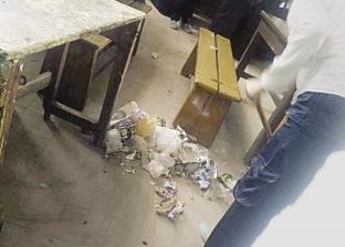مدارس فنية بالمنيا تجبر الطلاب على النظافة: «اكنس تنجح»