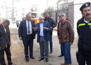 محافظ بورسعيد يتفقد أعمال توسعة ورفع كفاءة الطرق بمنطقة شارع محمد علي