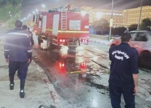 إصابة شخص في تفحم دراجة بخارية بأسيوط