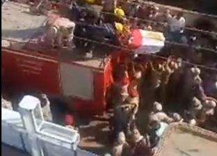 """""""جنازة وحدة وطنية"""" لأول شهيد قبطي في الحرب على الإرهاب بالدقهلية"""