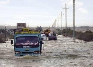 أمطار غزيرة تضرب شمال سيناء.. ومخاوف من سقوط سيول بالحسنة