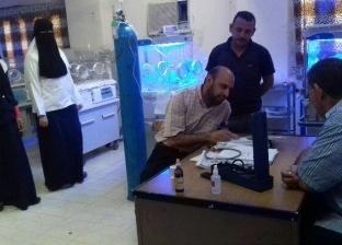 رئيس مركز ديرمواس بالمنيا يتابع مستوى الخدمات الطبية