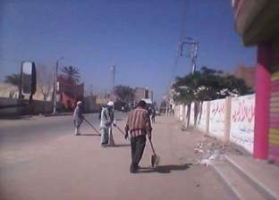بالصور| حملة نظافة ورفع مخلفات بوسط مدينة طامية في الفيوم