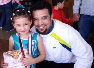 """الطفلة المعجزة في المنوفية.. لمار """"بطلة الجمباز"""" تفوز بـ4 ميداليات"""