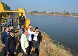 محافظ القليوبية يقود حملة مكبرة لإزالة 3200م2  تعدِ على حرم نهر النيل
