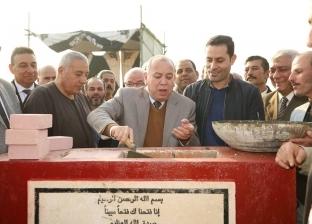 بالصور| وضع حجر أساس محطة الصرف الصحي بمحلة دياي في كفر الشيخ