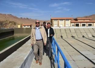 """محافظ أسوان ورئيس """"القومية لمياه الشرب"""" يتفقدان محطات كيما"""