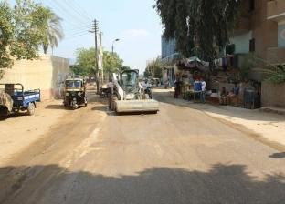 جهود مكثفة للوحدات المحلية بالمنيا لنظافة وتجميل وتشجير الشوارع