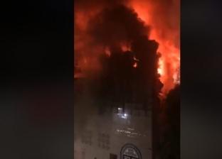 شاهد عيان عن حريق كنيسة الأنبا بولا: النيران لم تمتد لمبانٍ أخرى