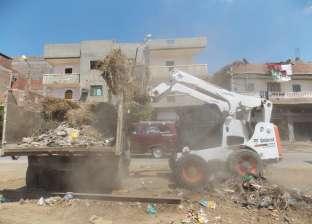 """صور.. إزالة 150 طنا من القمامة بـ""""شباس الملح"""" ضمن مبادرة """"قرية نظيفة"""""""