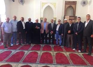 """وكيل """"أوقاف الإسكندرية"""" يشهد افتتاح مسجد كلية التجارة"""