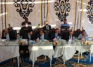 بالصور| مدير أمن كفر الشيخ  يتناول إفطار العيد مع الضباط والأفراد