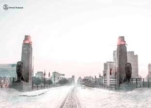 """مصمم جرافيك يحول معالم وشوارع مصر إلى قطعة أوروبية.. """"زينها بالثلج"""""""