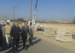 رفع 1100 طن أتربة وقمامة من أمام محطة الصرف الصحي بالجبل الأصفر