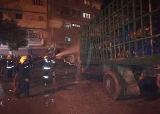 السيطرة على حريق بسيارة مخصصة لنقل أنابيب البوتاجاز بالإسكندرية