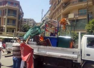 حملة لإزالة اشغالات شوارع حلوان