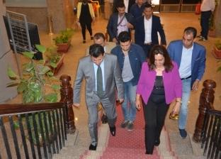 محافظ دمياط يستقبل وزير الشباب والرياضة قبل بدء زيارته لمنشآت المحافظة