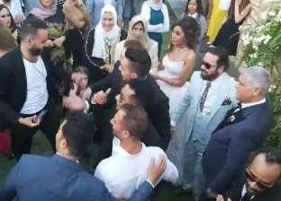 بالرغم من كورونا.. محمد رمضان في حفل زفاف شقيقته
