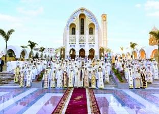 كاتدرائية العباسية فى اليوبيل الذهبى: الأجراس تدوِّى.. وترانيم بـ«رائحة البخور»
