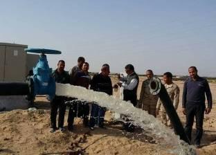 بالصور| حفر 5 آبار مياه لخدمة الوحدات السكنية الجديدة بمدينة الطور