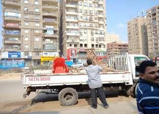 حملات بأحياء القاهرة لإزالة الإشغالات وإعادة الانضباط للميادين