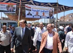 محافظ الدقهلية: علاج 698 مريضا خلال أعمال القافلة الطبية بمنية النصر