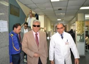 مدير أمن البحيرة يزور المريضات بمعهد أورام دمنهور