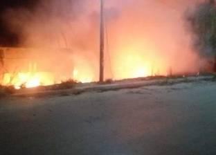 إخماد حريق بمحول للكهرباء في شبين القناطر