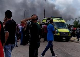 حريق هائل بمصنع ملابس في الإسكندرية دون إصابات بشرية