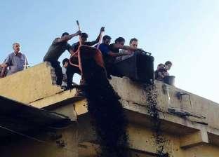 صور.. رفع مخلفات حريق كنيسة مارجرجس في المنصورة