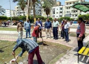 بالصور| حملة نظافة لميادين وشوارع دسوق من آثار احتفالات عيد الاضحى
