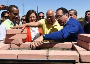 """رئيسا """"الوزراء"""" و""""النواب"""" يضعان حجر أساس """"محور دراو"""" على نيل أسوان"""