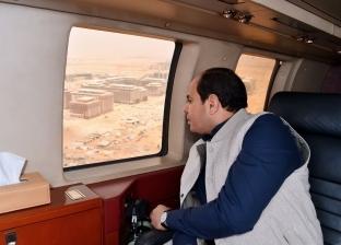 """عاجل  الرئاسة: السيسي يتفقد سير العمل بـ""""العاصمة الإدارية"""""""