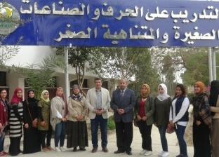 رئيس جامعة المنيا يتفقد مركز الحرف والصناعات الصغيرة