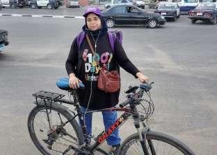 """""""شيماء"""" تشتري عجلة وتعمل دليفري بسبب كورونا: بأمن مستقبل عيالي"""