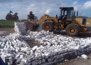 إزالة 11 حالة تعد على الرقعة الزراعية بمركز كفر الدوار في البحيرة