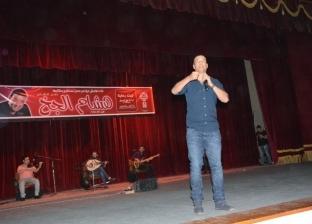 هشام الجخ يلقى أشهر قصائده خلال مؤتمر جامعة أسيوط مصر تستطيع بطلابها