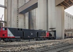 3 قطارات تغادر ميناء دمياط محملة بالقمح خلال الـ24 ساعة