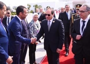 """""""الرئاسة"""": السيسي يعود إلى أرض الوطن بعد مشاركته بالقمة العربية بتونس"""