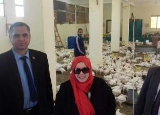 """وكيل """"تعليم شمال سيناء"""" تتفقد منتجات الدواجن بمدرسة الشهيد محمد أيمن"""