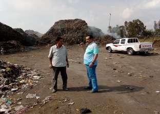 """بالصور  رئيس """"المحلة"""" يطالب برفع أطنان القمامة بطريق """"الجابرية"""""""