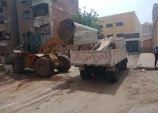 تحرير 12 محضر إشغال طريق عام و7 نظافة عامة في حملة بالقناطر الخيرية
