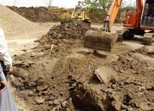 بالصور| إزالة فورية لحالتي تعدٍ على أراض زراعية في فارسكور بدمياط