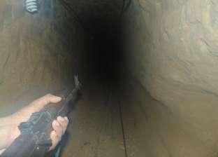 بالصور| الجيش الثانى الميدانى يدمر أحد الأنفاق الرئيسية على حدود سيناء