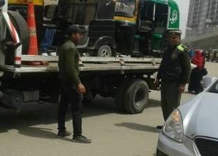 رفع 65 سيارة ودراجة نارية من الشوارع والطرق الرئيسية بالقاهرة