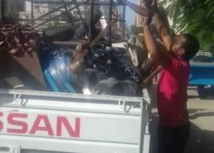 """إزالة اشغالات 6 """"كافيهات"""" بالحي السابع في مدينة نصر"""